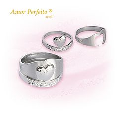 Amor Perfeito® (anel ouro branco)