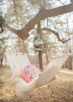 Pretty boho hammock. Perfect for a lazy autumn day.
