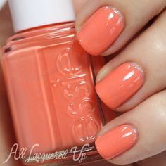 Essie Pure Pearlfection and Resort Fling layering swatch #EssieLook #nails via @All Lacquered Up