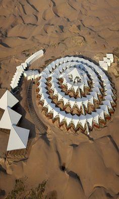 Desert Lotus Resort in Mongolia in the Gobi Desert. http://reversehomesickness.com/asia/gobi-great-weather-extremes/