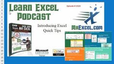 Excel quick tips by Mr Excel