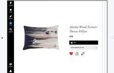 Alaska wood texture throw pillow