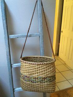 Laptop Tote - handwoven basket tote/purse