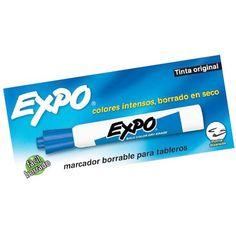 MARCADORES BORRABLES AZUL X12 EXPO 00806