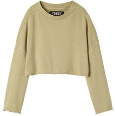 YEEZY sweatshirt (2022270 PYG) ❤ liked on Polyvore featuring tops, sweaters, shirts, jumpers, distressed shirt, beige top, ripped shirt, adidas originals and adidas originals shirt