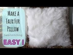 How to Make a Faux Fur Pillow  www.melaniekham.com