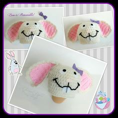 ALL SIZES Easter Bunny Beanie by EternalLightShop on Etsy, $22.00