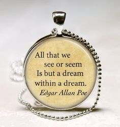 Edgar Allan Poe Book Necklace Poe Jewelry by MissingPiecesStudio, $9.95