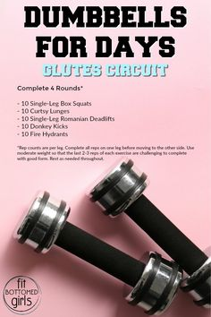 It's totally possible to get a great workout with just dumbbells. Here's a great little workout that targets your glutes.