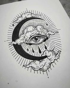 Trippy Drawings, Cool Art Drawings, Pencil Art Drawings, Art Drawings Sketches, Tattoo Sketches, Tattoo Design Drawings, Cool Drawings Tumblr, Drawing Tattoos, Drawing Designs