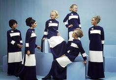 Air hostesses of Finnair with their new uniforms, 1969 via reddit [[MORE]] Album of more late 60's Finnair here.