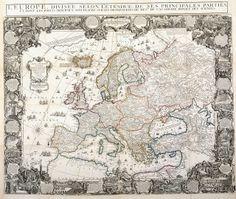 Europa   Mapas generales 1761  Biblioteca Nacional de España