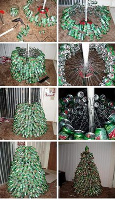 Mtn Dew (or Dr Pepper????) can Christmas tree
