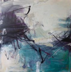 """Tom Lieber, """"Blue Swell III"""", 54 x 54 x 2 inches, Oil on canvas"""