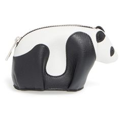 Loewe Panda Coin Purse (€350) ❤ liked on Polyvore featuring bags, wallets, panda wallet, coin pouch, loewe bag, loewe wallet and change purse