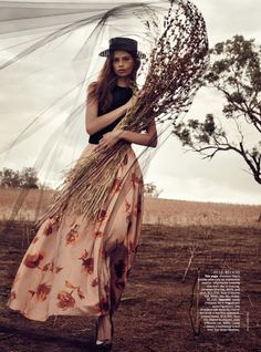Cassi van den Dungen by Will Davidson, Vogue Australia Dress: Dior Shoes: Miu Miu