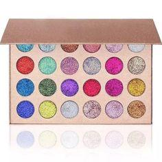 24 Colors Glitter Diamond Rainbow Eye Shadows Palette Pressed Makeup Cosmetic