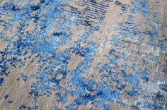 Art in hand-knotted wool and silk: Rain Rug, capturing the freshness of rain…