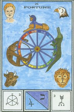 Atu X -- Fortune. Ceremonial Magick Tarot -  If you love Tarot, visit me at www.WhiteRabbitTarot.com