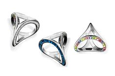 """Italy's Amelia Rachim placed first in the ring category in the Rebel Chique Design Competition with her """"Three-way"""" ring."""