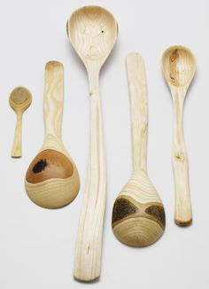 beautiful hand carved wooden spoons by nic webb.