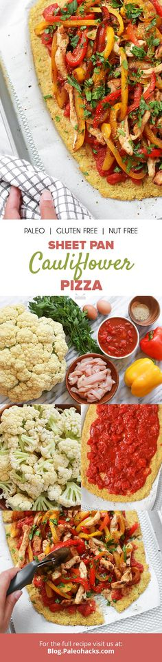 Zero gluten cauliflower pizza with zero guilt? Now that's our kind of pizza  Get the full recipe here: http://paleo.co/sheetpancaulipizza