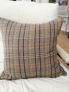 A personal favorite from my Etsy shop https://www.etsy.com/listing/247346054/fall-plaid-pillow-20