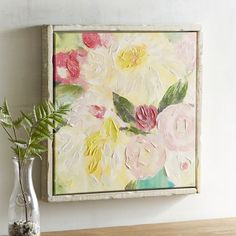 Regardless of whether you have a green thumb, our painted floral bouquet is forever in bloom. Pretty flourishes of soft pastels alongside vibrant hues give you a garden-worthy view all year long.