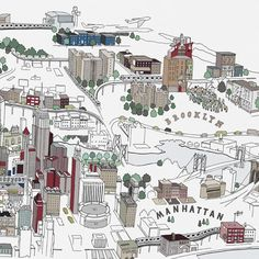 City Illustrations by Chris Dent « Visualingual