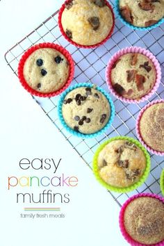 Easy Pancake Muffins - may have to try this. An easy way to use up extra mix too.