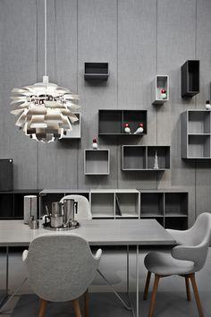 Modern Living Spaces // Ph Artichoke Pendant Lamp by Poul Henningsen for Louis Poulsen // Room at Danish Chromatism by Signe Byrdal Terenziani and GamFratesi during Milan Design Week 2013