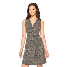 Women's Dana Buchman Print Faux-Wrap Dress