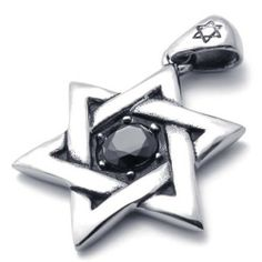 """20"""" KONOV Jewelry Vintage Classic Stainless Steel Star of David Pendant Necklace, Silver Black, 20 inch Chain KONOV Jewelry. $9.99. Chain Length: 18"""" 20"""" 22"""" 24"""" or 26"""" Width: 3mm. Pendant Height: 1.77""""(4.5cm) Width: 1.26""""(3.2cm). Pendant arrives with one quality stainless steel chain.. Color: Black & Silver; Material: Stainless Steel. Save 80%!"""