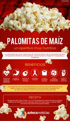 Palomitas de maíz, un aperitivo muy nutritivo