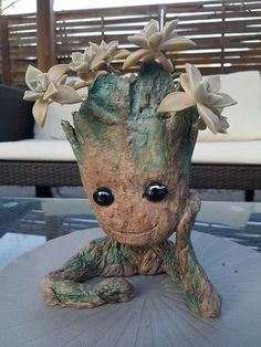 Baby Groot, Planter Pots, Flat, Plant Pots, Flat Shoes