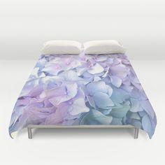 Soft+Pastel+Hydrangea+Duvet+Cover+by+Judy+Palkimas+-+$99.00