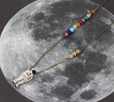 Dwarf Planet Pluto Silver Plated Clip Charm bracelet phone purse space astronomy