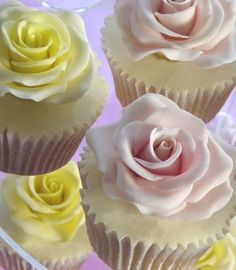 Large rose wedding cupcakes | Nicky Grant Wedding Cakes and Favours