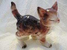 Vintage ceramic Calico Kitty Cat kitten