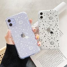 Space Print Cases - White / iPhone 11
