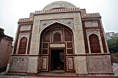 The Tomb of Atgah Khan in the Nizamuddin Dargah (mosque) complex in New Delhi. Atgah Khan, was a favoured noble of Emperor Akbar just like another, Adham Khan. The latter, son of Akbar's foster mother Maham Anaga, became insecure and jealous and killed Atgah Khan. Akbar was enraged and threw Adham over the walls of the Agra Fort twice – once to kill him, and another time to ensure he was dead. Read more in Ajay Jain's book, 'Delhi 101' - http://kunzum.com/delhi101.