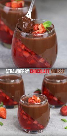Strawberry Chocolate Mousse  Best Kids Dessert Video Recipe #mousse #kids #dessert #chocolate