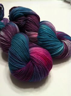 Visions of Sugarplums danced in their heads... Perfect for a pair of socks for a long winters nap :)  Pictured in BFL high twist sock. Also