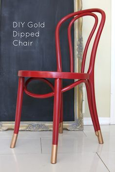 Dipped-leg chair with tape and rub and buff.