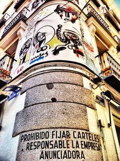 Fachada madrileña con intervención artística!!!