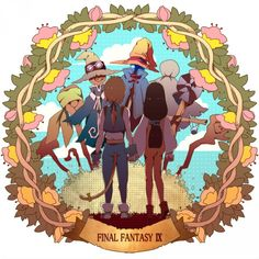 Zidane, Garnet, and Vivi ||| Final Fantasy IX Fan Art