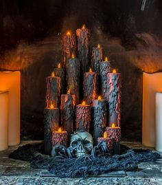 They cut up the tubes for this Halloween idea and wait till you see the final step (EEk!)