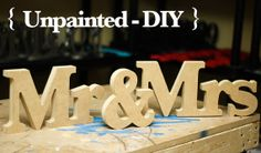 Freestanding Mr and Mrs Wedding Signs for Sweetheart Table Decor - Wooden Signs Mr and Mrs Wooden Letters, Large