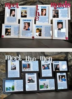 Put together a meet the bridal party table. All you need to do is put each person's name, picture, and some information about them in a picture frame and display at the reception.