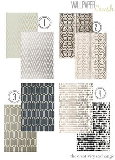 Favorite wallpaper trends. Wallpaper Crush. The Creativity Exchange